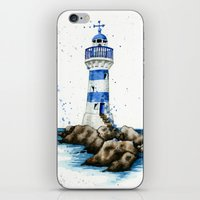 lighthouse iPhone & iPod Skins featuring Lighthouse by Priscilla George
