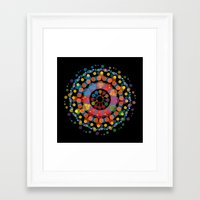 circles Framed Art Prints featuring Circles by Scalifornian