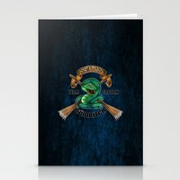 quidditch Stationery Cards featuring Slytherine quidditch team captain by JanaProject