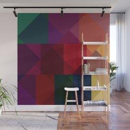 Jewel tones abstract geometric III Wall Mural