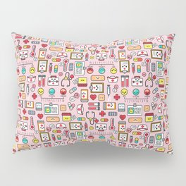 Proud To Be A Nurse pattern in pink Pillow Sham