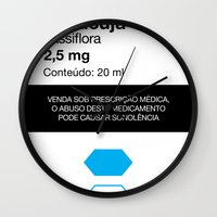 posters Wall Clocks featuring Kitchen Posters - Rivotril/Maracuja by mvaladao