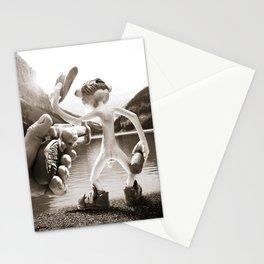 Naked Cowboy (sepia) Stationery Cards