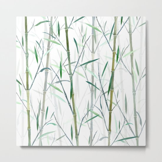 New Bamboo Forest Metal Print