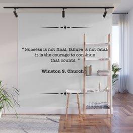 Winston Churchill Quote Wall Mural