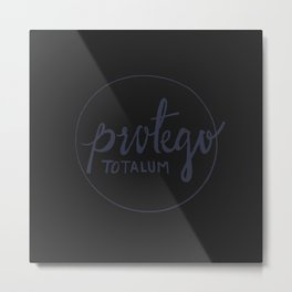 Protego Totalum Metal Print