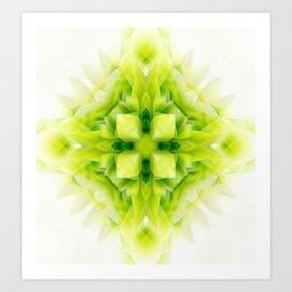 little green tile Art Print