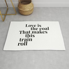 Love is the Coal Rug