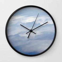 Cloudy Reflection Wall Clock