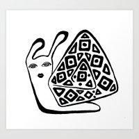 decorative snail-1 Art Print