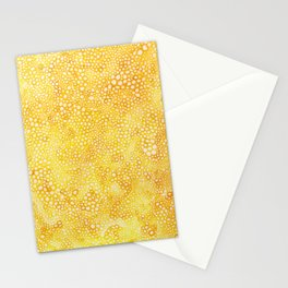 Yellow Bubbles Stationery Cards