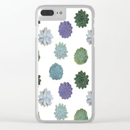 Succulent plant pattern 2 Clear iPhone Case