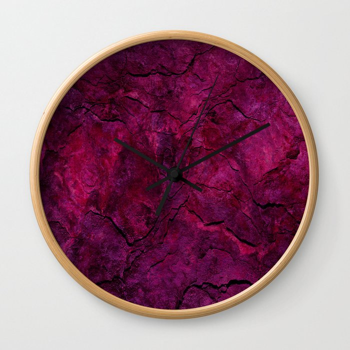 Purple Heavy Metal Wall Clock