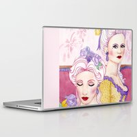agnes cecile Laptop & iPad Skins featuring Marie & Cecile by artofnadia