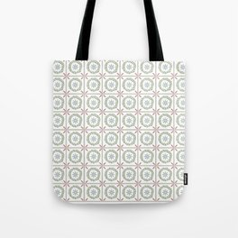 Farmhouse Floral Tile Tote Bag