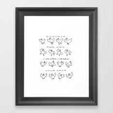 Chicken Dance Framed Art Print
