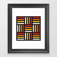 Geometric Pattern #166 (red yellow stripes) Framed Art Print