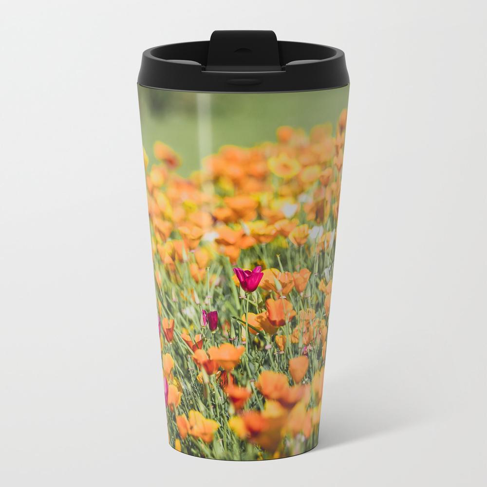 Field Of Orange California Poppies Metal Travel Mug by Mattmoberlyart MTM8835300