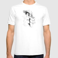 Boom!!! Mens Fitted Tee MEDIUM White
