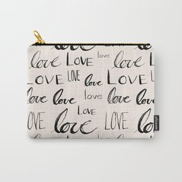 Words of Love // Antique White Carry-All Pouch