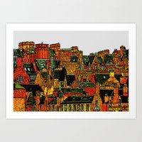edinburgh Art Prints featuring Edinburgh by dacarrie