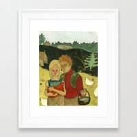 eggs Framed Art Prints featuring Eggs by Gina Pierik Hendry