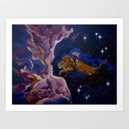 Lily the Lionhearted Art Print