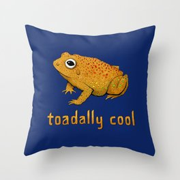 Toadally Cool Psychedelic Toad Throw Pillow