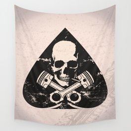 Grunge ace of spades Wall Tapestry