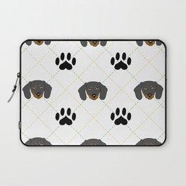 Dachshund Paw Print Pattern Laptop Sleeve