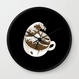 The Great Wave off Coffee Wall Clock