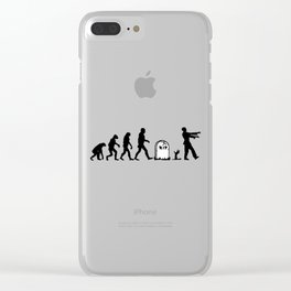 Zombie Evolution Clear iPhone Case