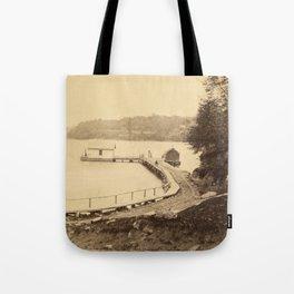 Vintage Adirondacks: Ticonderoga Boat Landing Tote Bag