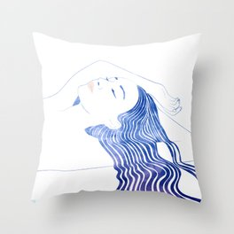 Water Nymph XLIX Throw Pillow