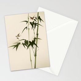 Oriental style bamboo branches 001 Stationery Cards