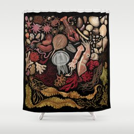 Intertidal Life of the North Atlantic (without species list) Shower Curtain