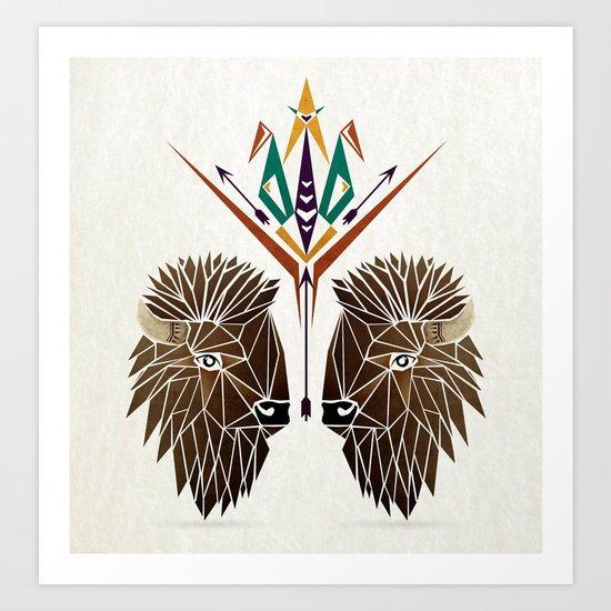 bison love Art Print