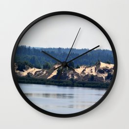 Landscape on the river # 2 Wall Clock