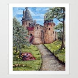 Castell Coch (Red Castle) - Spring Art Print