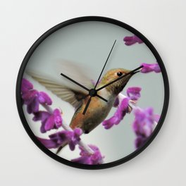 Slipping in for Another Sip Wall Clock