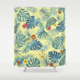 Palm Leaves Pattern 4 Shower Curtain