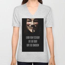 Anonymous Quote Unisex V-Neck