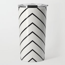 Diamond Series Pyramid Charcoal on White Travel Mug