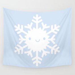 Kawaii Snowflake Wall Tapestry