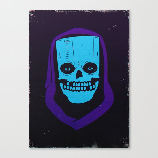 8-BIT MONSTER / CARTRIDGE GHOST Canvas Print
