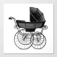 Canvas Prints featuring Baby carriage by Upopot