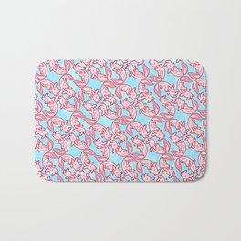 Kawaii Axolotl Pastel Chido Pink Bath Mat