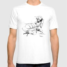 _life like a fly MEDIUM Mens Fitted Tee White
