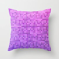 mosaic Throw Pillows featuring Pink purple mosaic by David Zydd