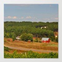farm Canvas Prints featuring Farm by greenelent